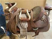 """Brown Leather 17"""" Western Roping Saddle"""
